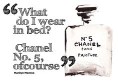 Chanel, Quote, Marilyn Monroe, b & w  curvy, sexy, bed