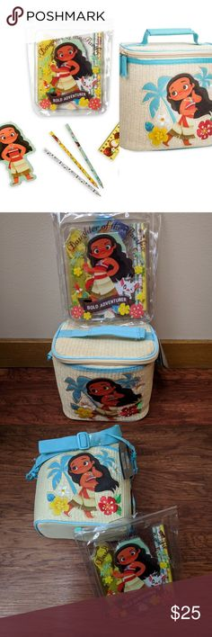 5e79bed909 Disney Moana Lunchbox & Stationary combo brand new Disney Accessories Bags