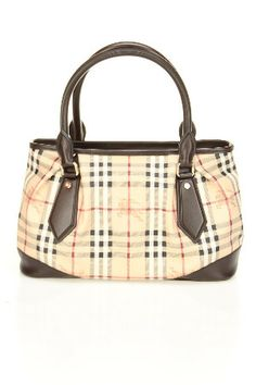 3eecb575dd50 Burberry Haymarket Leather Trim Tote In Chocolate - Beyond the Rack -  Absolutely ridiculous price