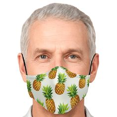 Pattern Print, Print Patterns, Dream Mask, Pineapple Pattern, Ear Loop, Face Shapes, Face Masks, Perfect Fit, Filters