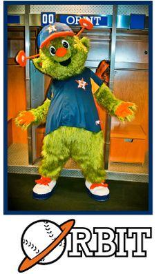 Heeeeeeee's back!!!  Houston Astros Mascot - Orbit | astros.com  ---- Can't wait for opening day  3/31/13!