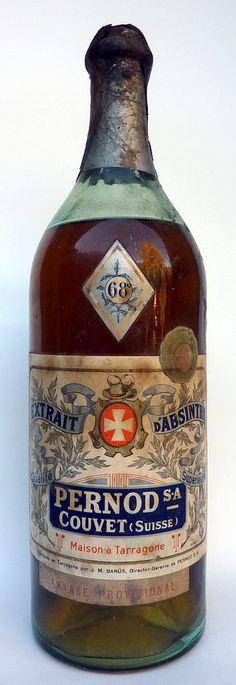 Pernod Couvet Absinthe bottle