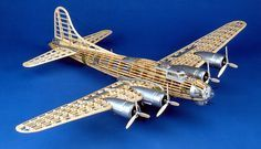 Guillows balsa model airplane kits like the Flying Fortress are perfect for experienced modelers. Made in USA B 17, Balsa Wood Models, Gun Turret, Hobbies For Adults, Hobby Kits, Rc Model, Model Kits, Thing 1, Model Airplanes