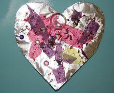 Preschool Crafts for Kids*: Valentine's Day Foil Hearts Preschool Craft