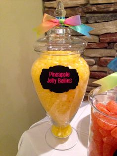 Candy buffet sweethearts & co. lapeer michigan lollipop party children's parties jelly bellies pineapple rainbow