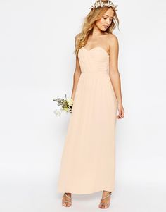 Image 4 ofTFNC WEDDING Bandeau Chiffon Maxi Dress