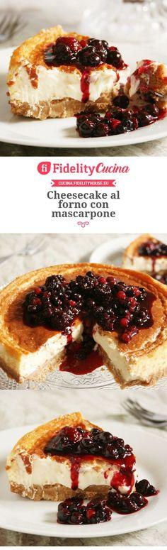 Cheesecake al forno con mascarpone