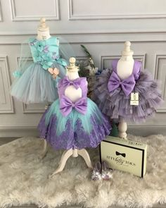 Loving these shades of purple and teal! Ana Dress, Princess Demi Dress & Mimi Purple In stock and ready to ship Order here www.ittybittytoes.com Worldwide Delivery ✈️ittybittytoes