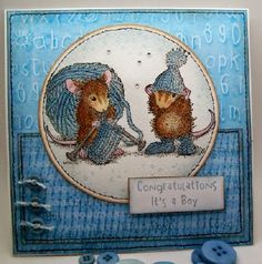Kim is blogging over at Woodware Craft Collection with our darling House-Mouse Designs® Knit Gift!