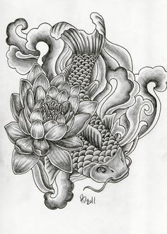 Japanese Water Tattoo Designs | Floral Japanese Koi Lily Roses Tattoo Water Wild Leave A Comment