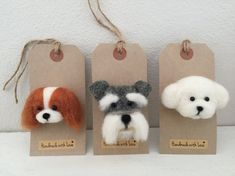 This is our new craft Needle Felting. We have made a lovely selection of animal Brooches. This is our gorgeous King Charles Brooch. They look fantastic on so many different items, Coats, Jackets, Bags, Hats, Scarves, Dresses and so much more. Our adorable little felted animal