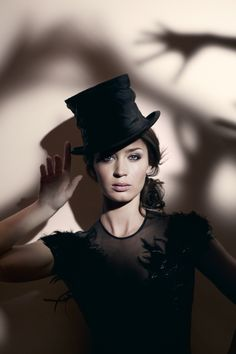 Not a fan of top hats, but Emily seems to pull it off well. Must be because she is so beautiful.