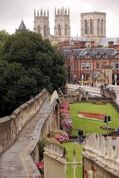 York Minster (View from the city's medieval walls)    North Yorkshire, England
