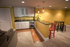 Finished Basement - Malvern - traditional - basement - philadelphia - West Chester Design / Build, LLC