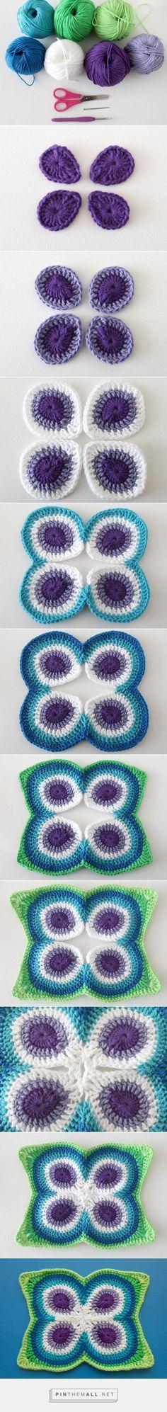 Crochet Butterfly Peacock Mandala Free Pattern