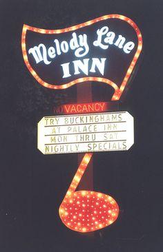 Vintage Neon Sign- Melody Lane Inn, Branson, MO
