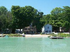 Glen Lake Cottages in Glen Arbor, Michigan...on little Glen LaKE, PET friendly, 4 separate cottages