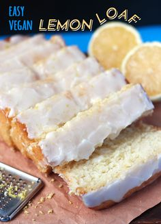This ridiculously easy lemon loaf topped with a sweet-tart lemon glaze is to die for! This recipe is simple, vegan, and a must have for all lemon lovers! Source by midnitestamper Sponsorlu Baglantılar Sponsorlu Baglantılar Vegan Treats, Vegan Foods, Vegan Recipes, Vegan Loaf, Raw Vegan, Vegan Lemon Cake, Lemon Bread, Cake Recipes, Dessert Recipes