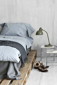 love the simplicity. maybe with a home made headboard...hmmm.