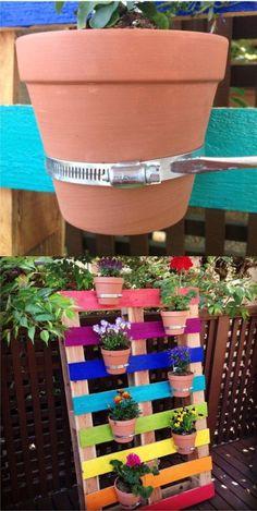 Bunter vertikaler Garten Garden Gallery - All For Garden Garden Crafts, Diy Garden Decor, Garden Projects, Garden Ideas, Wood Pallet Planters, Wonderful Flowers, Pallets Garden, Colorful Garden, Planter Boxes