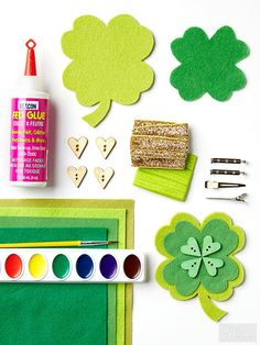 Wearable Four-Leaf Clover Craft