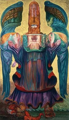 'The Angel of History', Ernst Fuchs, 1992 (copyright to the artist) photo by dreamsdarkly   Photobucket