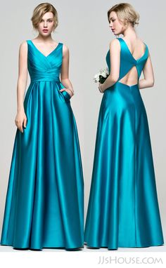 Gorgeous satin bridesmaid dress.   #JJsHouse #JJsHouseBridesmaidDress