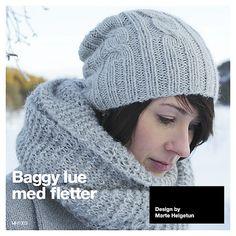 Ravelry: Strikkelue med fletter pattern by Marte Helgetun
