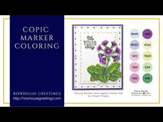 Copic Marker Coloring - Spring Border One by Power Poppy Poppy Youtube, Poppy Cards, Coloring Tutorial, Copic Markers, Digital Stamps, Clear Stamps, Inspire Me, Poppies, Spring