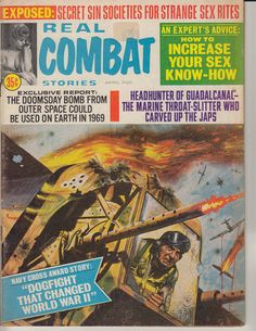 Real Combat Magazine - great tail gunner cover.