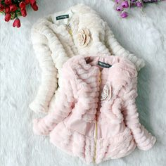Aliexpress.com : Buy Hot Sell Beige Pink Colour Kids' Fur Coat Flowers Decorated Coat Autumun Winter Girls Fashion Jackets 2013 Sunlun Free Shipping from Reliable kids coat suppliers on Sunlun Wholesale And Retail Center $55.20