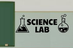 Science Lab Vinyl Wall  Decals - Science Classroom Decal - Chemistry Class Sticker - Teacher Decorations - School Sticker Decals - Electron by iheartdecals on Etsy (null)