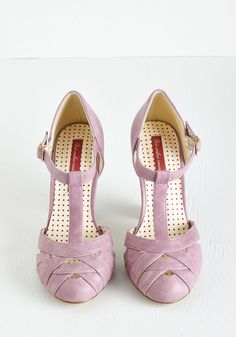 Spring 'Em Out Heel in Orchid. The sun is shining, birds are chirping, and youre soaking it all in as you debut these sweet, purplish-pink pumps by Bait Footwear! #purple #prom #wedding #modcloth