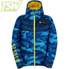 Spyder Herren USST Timeless Lightweight Jacke - Blue Camo Ski Sport, Ski Racing, Ski Wear, Blue Camo, Lightweight Jacket, Off Duty, Cold Weather, How To Wear, Shopping