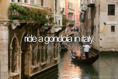 Ride a gondola in Venice, Italy 🛶🇮🇹 Bucket List For Girls, Bucket List Before I Die, Rome Florence, Local Legends, Life List, Just Dream, I Want To Travel, Oh The Places You'll Go, Dream Vacations