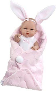 Arias 33 cm Elegance Polka Dot Natal Doll with Sack in a Bag (Pink)