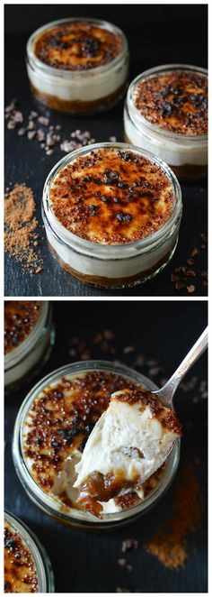 Raw salted caramel crème brûlée, with a layer of date caramel, covered in a rich layer of vanilla coconut butter cream, and topped with a crunchy layer of (not-so raw!) caramelised coconut sugar.