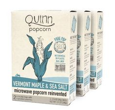 3 Pack of Vermont Maple & Sea Salt Organic Popcorn!