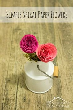 Simple Spiral Paper Flowers    Practically Functional paper flowers