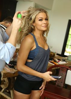"""LEANN RIMES Prepars for CMT 2014 Awards -  Met her when she performed in Richmond, Ky...EKU...Dec of '13...met her and now we follow each other on twitter...I """"saw her ring was back on""""...lol...she's really nice!  Have video and photos...she's gorgeous in person!"""
