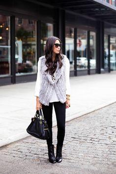 34 Gansevoort St. - Joie vest c/o Amazon Fashion 7 For All Mankind jeans c/o Amazon Fashion Joie blouse c/o Amazon Fashion // Sam Edelman booties // Chloe bag Monday, October 27, 2014