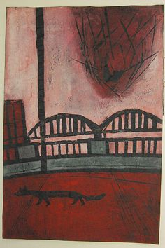 """Setting Sun,1960, Tadashige Ono, ed. of 20, 18"""" x 12"""""""