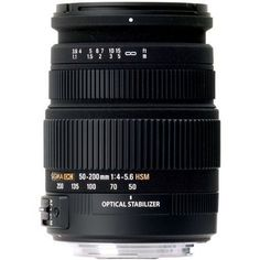 Sigma - Objetivo 50-200 mm f/4,0-5,6 DC OS HSM (rosca para filtro de 55 mm) para Canon B002330GCY - http://www.comprartabletas.es/sigma-objetivo-50-200-mm-f40-56-dc-os-hsm-rosca-para-filtro-de-55-mm-para-canon-b002330gcy.html