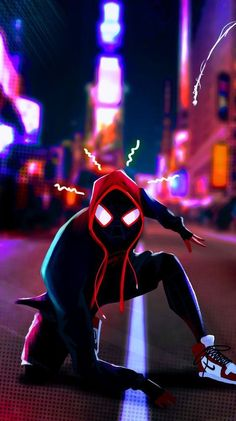 Miles Morales - Ultimate Spider-Man, Into the Spider-Verse Black Spiderman, Spiderman Art, Amazing Spiderman, Wallpaper Animé, Handy Wallpaper, Flash Wallpaper, Hero Marvel, Marvel Art, Marvel Comics