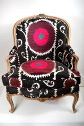 Suzani tub chair  $3250.00  There is hope for me yet