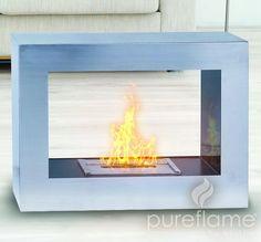 "30.7"" Silver Window Flame Fireplace"