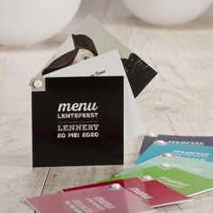 Origineel menu in waaiervorm met eigen foto | Tadaaz #menu #lentefeest #communie www.tadaaz.be