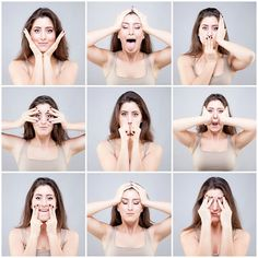 Yoga Facial O Botox Natural Health Lose Weight In Your Face, Loose Weight, Lose Fat, How To Lose Weight Fast, Body Weight, Losing Weight Tips, Weight Loss Tips, Asana Yoga, Double Chin Exercises