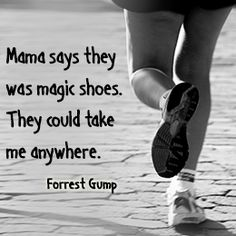 We all enjoy watching movies, but there are some that we don't mind watching a couple of times more. Here are the best top 10 feel good movies. Tom Hanks Forrest Gump, Forrest Gump Quotes, Famous Movie Quotes, Film Quotes, Funny Quotes, Real Quotes, Running Quotes, Running Motivation, Magic Shoes