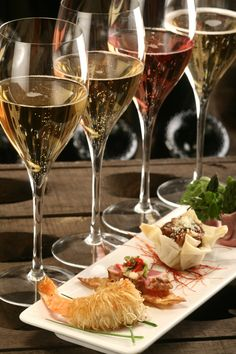 Love the idea of having a nibble that's perfectly paired with a tasting. A great party idea.